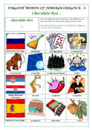 ENGLISH WORDS OF FOREIGN ORIGIN R - S (RUSSIAN, SERBO-CROATIAN, SPANISH) - a pictionary