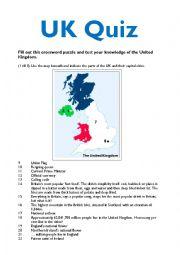 English Worksheet: UK Quiz