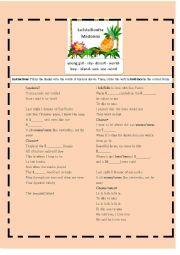 English Worksheet: La Isla Bonita Madonna Nouns and Verb forms