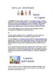 distiled beverages