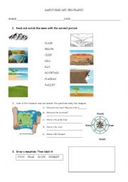 English Worksheet: Landforms and Geography