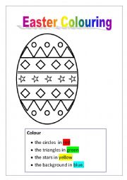 English Worksheet: Easter colouring 6 pages