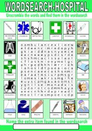 Hospital Wordsearch