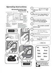 English Worksheet: Operating Instruction Manual: Microwave oven (answer key included)