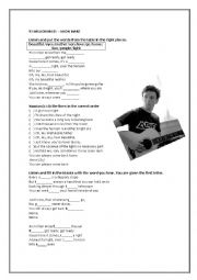 English Worksheet: 93 Million Miles- Jason Mraz