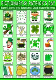 English Worksheet: Saint Patrick´s Day Pictionary