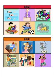 VERB TENSES BINGO CARDS/ playing cards 2/5