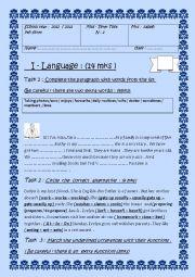 Mid Term- Test n : 1 7th form