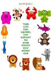 English Worksheet: HAPPY ZOO! :)