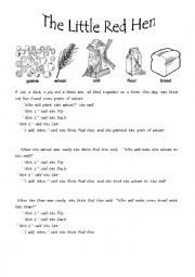 Versatile image intended for the little red hen story printable