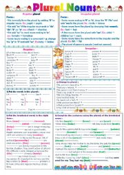 English exercises plural form for Bureau plural form