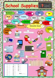 English Worksheet: School Supplies