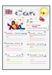 English Worksheets: CAN  (ABILITY)