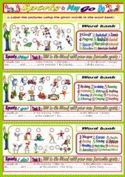 English Worksheet: Sports ( play / do /go)