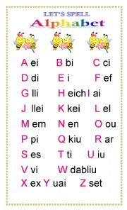 English Worksheet: Alphabet