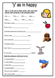 Y As A Vowel Worksheets Free - The Best and Most Comprehensive ...