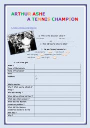 English Worksheet: A tennis champion