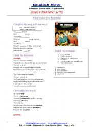 English Worksheet: one direction