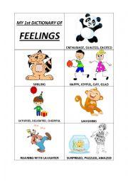 mini book feelings (adjectives) + exercises