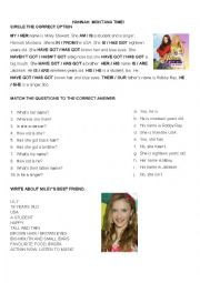 English Worksheet: Hannah Montana helps you