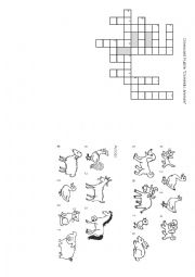 English Worksheet: Crossword domestic animals