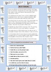 English Worksheet: Queen�s biography