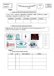 English Worksheet: Module 6 / LESSON 4: CLUBS, ASSOCIATIONS AND CHARITIES