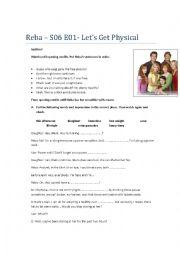 English Worksheet: Reba - Let�s Get Physical