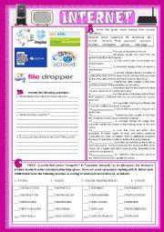 English Worksheet: Internet_vocabulary (key inlcuded)