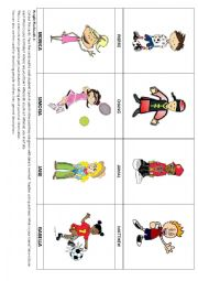 People Flashcards & Activity 1