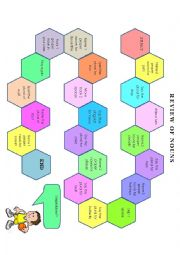 English Worksheet: Board game proper and plural nouns