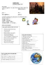 English Worksheet: Earth Song by Michael Jackson