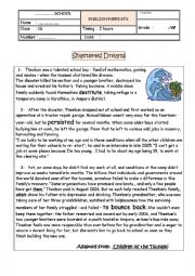 English Worksheet: end of term test 1st form reuploaded because of watermarked pictures