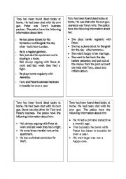 English Worksheet: Detective Murder Mystery