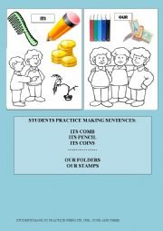 POSSESSIVES + COMMON OBJECTS