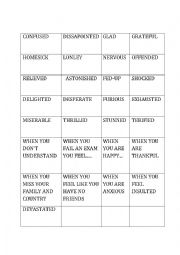 English Worksheet: Personality Adjectives game card matching