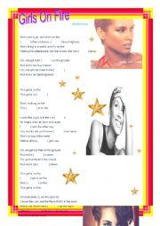 English Worksheet: Girls on fire -Alicia keys