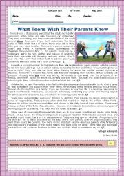 TEST- WHAT TEENS WISH THEIR PARENTS KNEW!