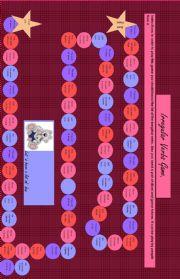 English Worksheet: Irregular Verbs easy board game