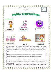 English Worksheet: Polite expressions