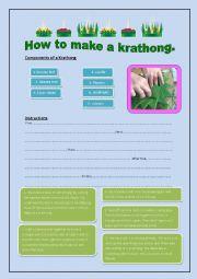 English Worksheet: ็How to make a Krathong