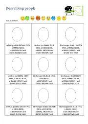 Describing People - Drawing Faces