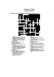 Labor Day Crossword with solution