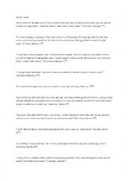 English Worksheet: Quotations - Adrian Mole