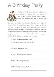 English Worksheet: Test on BE GOING TO