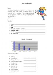 English Worksheet: Free Time Activities and Adverbs of frequency