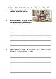 The Blind Side movie worksheet