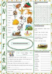 English Worksheet: On the Farm Vocabulary Exercises