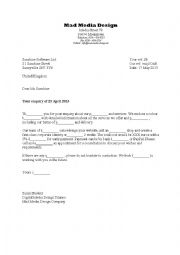 Business Letter for Media Designers  Offer