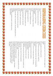 English Worksheet: 200 REPHRASING PAU
